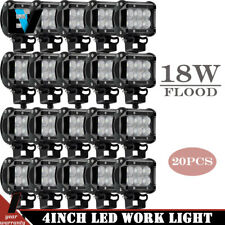 20PCS 18W LED WORK LIGHT FOG Flood BEAM LAMP OFFROAD TRUCK 12V SUV UTE ATV