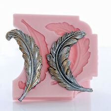 Feather Silicone Mold Resin Clay Epoxy Soap Food Safe Chocolate Fondant  (727