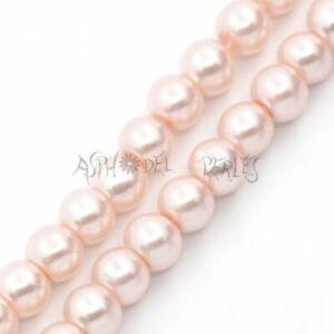 100 perles nacrées Renaissance 4 mmrose clair