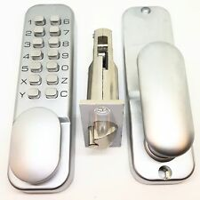 Push Button Digi Combination Code Door Lock Keyless Access Satin With Holdback