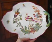 LOVELY VINTAGE MOTTAHEDEH WILLIAMSBURG CHELSEA BIRD LEAF MOTIF SERVING TRAY #1