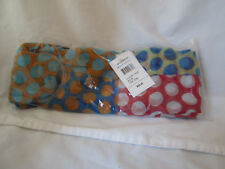 New Blue Multi-Color Polka Dot Scarf Neck Wrap Accessory Accent Piece Sealed
