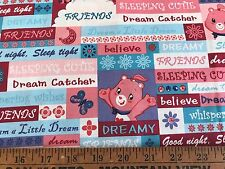 Cotton Quilt Fabric Care Bears Those Characters From Cleveland  BTHY
