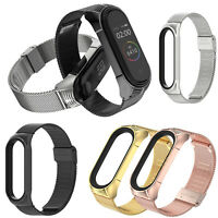 for MiBand 6/5/4/3 Smart Watch Watch Strap Stainless Steel Bracelet Wristband x1