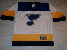 Al McInnis 2 St. Louis Blues NHL Hockey Logo Athletic Jersey Boy's Medium 10-12