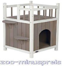 Katzen Haus m.Balkon, zum Zurückziehen und Kuschelhöhle 45x65x45cm auch f. Außen