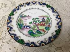 Vintage, Crown Staffordshire, England, Gaudy Blue Willow 6in Plate