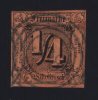 Germany Thurn & Taxis Sc #1 (1854) 1/4sgr Northern District Used