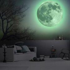 Mond Wandsticker Wandtattoo Wandaufkleber Kinderzimmer Ø12-50cm Nachtleuchtende