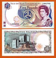Isle of Man QEII 5 Pounds ND (1983) Pick-41b GEM UNC