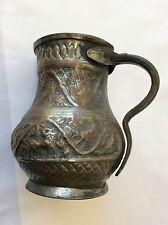Perse Pichet en cuivre étamé XVIIIe Zand Afsharides ou Qājār