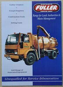 Fuller Range for Local Authority & Waste Management 4pg leaflet Brochure 1992?