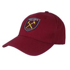 Prodotto con licenza ufficiale Calcio West Ham United Berretto Da Baseball Cappello Borgogna NUOVO
