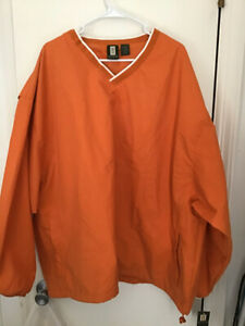 HARTWELL Orange Crush Promotional Burnt Orange Vented L/S NWT Windshirt Mens 3XL