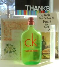 CK ONE Summer 2012 EDT~5ML Decant Travel Atomizer + FREE SHIPPING