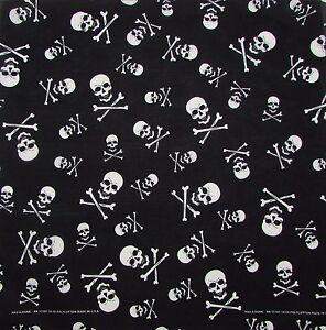 New MTL Skull & Crossbones Bandana USA Made
