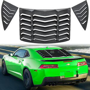 Rear+Side Window Louver Sun Shade Cover for Chevy Chevrolet Camaro 2010-2015 ABS