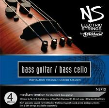 D'Addario NS Electric Bass/Cello String Set, 4/4 Scale, Medium Tension