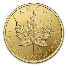 2015 Canada 1/10 oz Gold Maple Leaf BU - SKU #84893