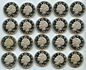 2005 FULL ROLL OF NORFED SILVER ROUNDS/PROOF QUALITY/20 COINS