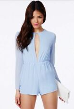 Chiffon Long Sleeve Playsuit Jumpsuits & Playsuits for Women