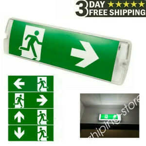LED Emergency Light Exit Bulkhead Maintained/Non-Maintained Left/Right/Down ZE
