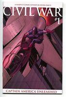 Civil War 1 Marvel 2006 NM- Captain America Iron Man Avengers 2nd Print Variant