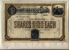 Ohio Valley Railway Company Stock Certificate Kentucky