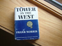 TOWER of the WEST BY FRANK NORRIS  (1957 SIGNED BY AUTHOR) 1st ED. 1ST RARE BOOK