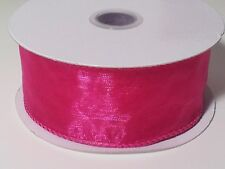 "2 1/2"" Wired Edge Organza Ribbon 10 Yards"