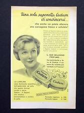 C702 - Advertising Pubblicità- 1953 - CADUM SAPONETTA ALLA LANOLINA