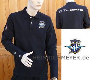 Original MV Agusta F4-1000 Long Sleeve Shirt Polo Shirt Black Size L