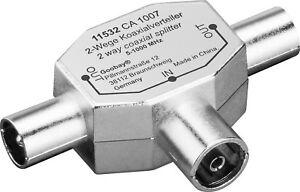 Antennenverteiler 3fach KOAX 1 Buchse > 2 Stecker #m347