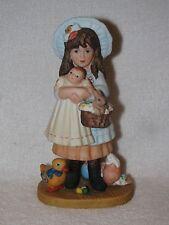 Porcelain Jan Hagara Figurine Victoria & Her Bye- Lo Doll