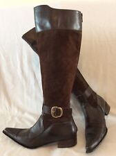 Prima Moda Brown Knee High Leather Boots Size 37