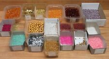 Huge Lot of Small Craft Sequins & Jewelry Beads Topaz Faceted, Rondelle, Pearls