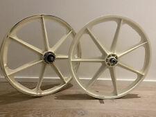 Skyway Tuff Wheels, Cruiser 24, White, including 2 packs of orig. white brake pa