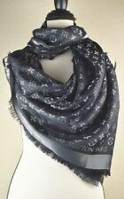 NEW LV Monogram Silk/Wool Shine Scarf/Shawl 100% Authentic M75123 Louis Vuitton