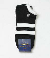 New Women's Polo Ralph Lauren Stripe Low-Profile Socks 3Pair
