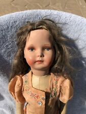 Vintage German Art Type 17� Doll W Hauntingly Beautiful Painted Face