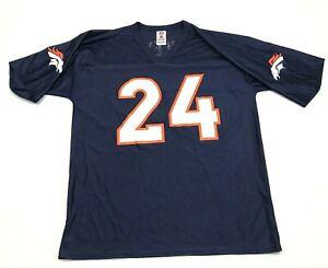 VINTAGE NFL Champ Bailey Denver Broncos Football Jersey Men's Size Large L Blue