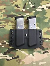 Black Kydex SIG P220 Single Stack Dual Magazine Carrier