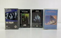 Lot of 4 - VTG Cassette Tapes Classics - Police, Genesis, Yes, Dire Straights