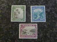 JAMAICA POSTAGE REVENUE STAMPS SG111-113 LIGHTLY-MOUNTED MINT