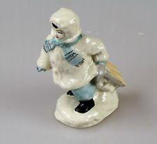 Russische Porzellanfigur Junge mit die Schlitten Porzellan UdSSR 50 er,