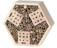 More details for new insect bee house bug wooden hotel natural wood shelter garden nest box