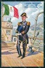 WW1 WWI Propaganda Marina Militare Duca degli Abruzzi cartolina XF6515