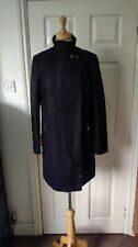 FCUK French Connection Wool Blend Midnight Purple Coat Size 8 *GC*