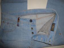 ICEBERG ICE jeans vintage blu chiaro sz 30 Tg 44, gamba dritta, vita medio-alta
