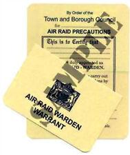 WW2 ARP Identity / Warrant Card  (Exact Copy)